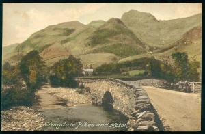 cumbria, Langdale Pikes and Hotel (1910) Frith's Series