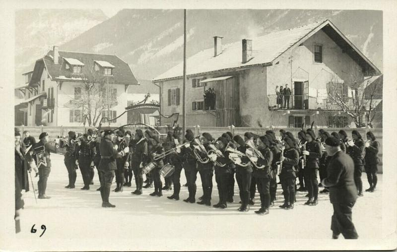 france, CHAMONIX, Military Music Band French Chasseurs Alpins (1932) RPPC (1)