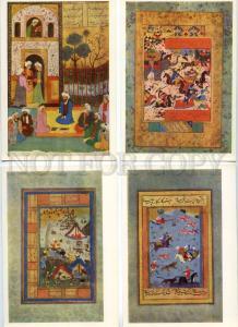 153748 IRAN Fine Art 16 old russian postcards