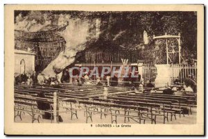 Old Postcard Lourdes cave
