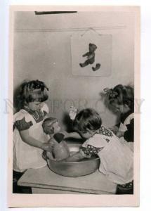 237066 RUSSIA CHILDREN wash doll TEDDY BEAR wall Trachtenberg