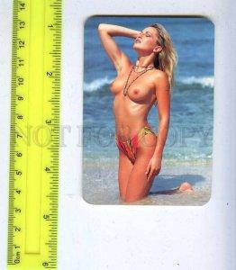 259611 Russia Nude girl ADVERTISING Moskabelmet CALENDAR 1998