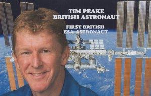 Tim Peake First British ESA Astronaut Astronomy Postcard