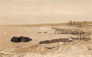 A99/ Pemaquid Point Maine Me RPPC Real Photo Postcard c1910 Boat Landing 1