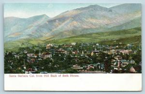 Postcard CA Santa Barbara View From Hill Back of Bath House c1907 View Q13