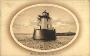 Yarmouth NS Beacon LIghthouse c1910 Postcard