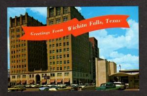 TX Greetings WICHITA FALLS TEXAS Postcard Hamilton Bldg