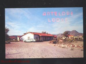 ALPINE TEXAS ANTELOPE LODGE MOTEL OLD CARS VINTAGE ADVERTISING POSTCARD