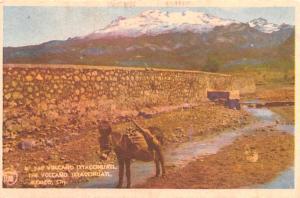 Mexico Old Vintage Antique Post Card Volcano Mexico City Unused