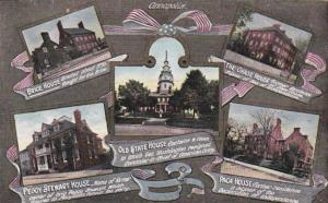 Maryland Annapolis Brige House Chase House Old State House Peggy Stewart Hous...