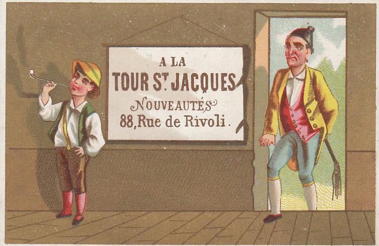 Tour St. Jacques Noveates - Boy Caught Smoking Card