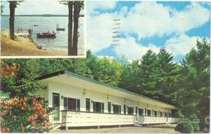 Twin Lantern Motel at Weirs Beach Laconia New Hampshire 1968 Chrome