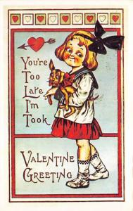 Reproduction Valentines Day Unused