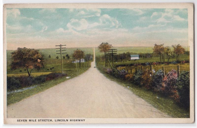 Seve Mile Stretch Lincoln Highway