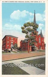 Churches Vintage Postcard Port Jervis, NY, USA Vintage Postcard St Mary's Chu...