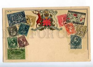 231917 CANADA British COLUMBIA Coat of arms STAMPS embossed PC