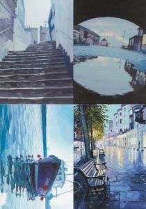 Kent Bayle Steps Pantiles Folkestone Trawler Disaster Weather 4x Postcard s