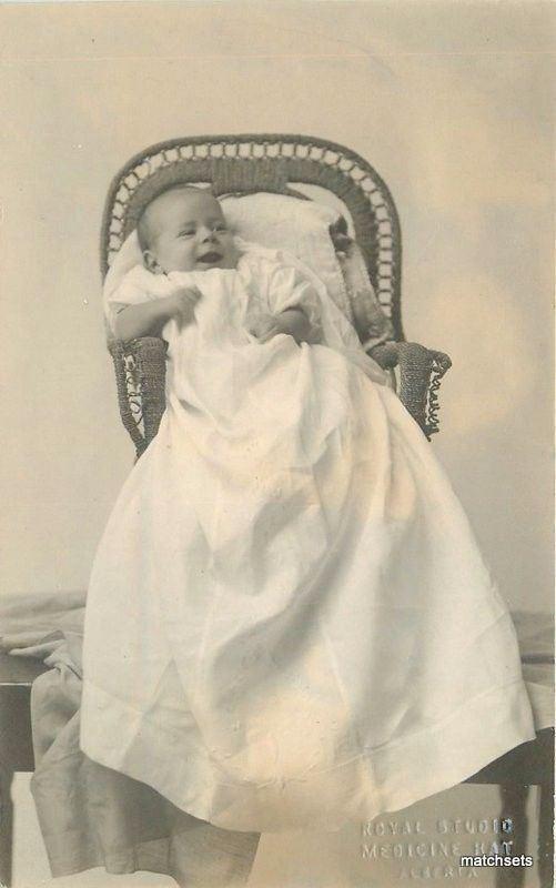C-1906 Medicine Hat Alberta Canada Royal Studios Infant RPPC real photo 2640