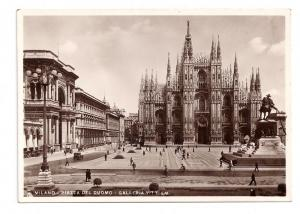 RPPC Milano Piazza Del Duomo 1936 Italy Real Photo Postcard