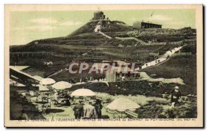 Postcard Old Terrace of & # 39auberge the Mecure temple atop the Puy de Dome