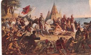 Colonial Post Card Old Vintage Antique Postcard De Soto's Discovery of t...