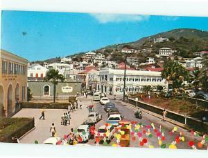Main Street St Thomas Virgin Islands United States Post Office  Postcard # 8199