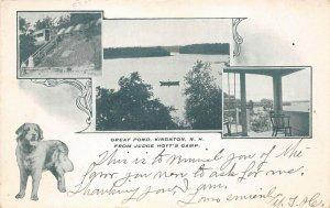 LPS46 Kingston New Hampshire Judge Hoyt's Camp Great Pond Vintage Postcard