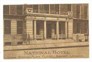 National Hotel, Upper Bedford place, Russell square, London,PU 1925