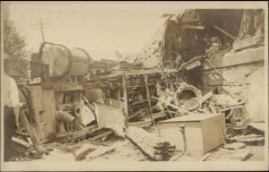 RR Train Wreck - Bridgeport CT Stamped on Back c1910 Real Photo Postcard