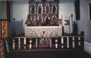 The Altar screen of Llano Quemado Church in The Ecclesiastical Room of The Mu...