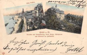 Hochst Germany Birds Eye View Villas Antique Postcard J60919