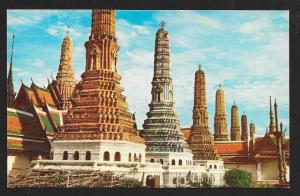 Wat Pra Keo 7 Colored Pagoda Bangkok Thailand unused c1950's