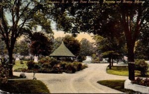 Rhode Island Providence Swan Point Cemetery Driveway and Resting Pavilion