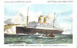 D.D.Rotterdam Holland - American Line, Lines, Liner, Ship Unused very light c...