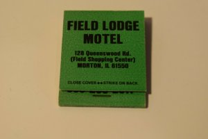 Field Lodge Motel Morton Illinois 20 Strike Matchbook