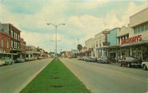 Autos Broadway Downtown Business Section 1950s Kissimmee Florida Central 6226