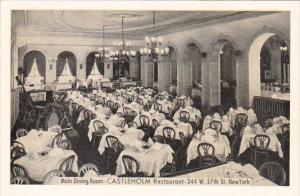 New York City Interior Main Dining Room Castleholm Restaurant