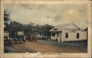 South Harwich Cape Cod MA Kozy korner Lunch c1920 Postcard