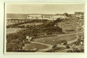 tp4757 - Lancs - The Promenade and Gardens at Southport  - Postcard