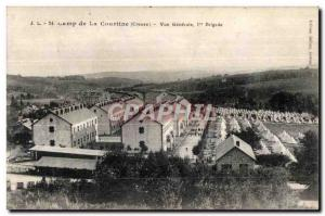 Old Postcard side of the curtain (Creuse) General view bridge Militaria