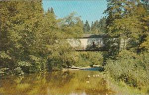 California San Cruz Covered Bridge At Paradise Park