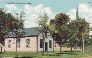 Maine Readfield Church Street
