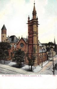 Albany New York~St Peters Episcopal Church~Majestic Tower~Brick Paved Street~'05