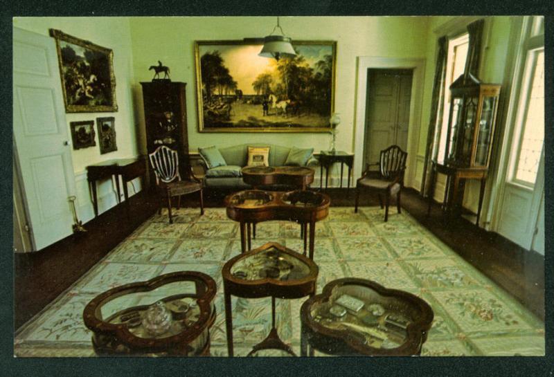 Pebble Hill Plantation Interior Upstairs Sitting Room Georgia Postcard