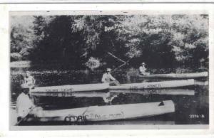 rppc - AK - PINE RIDGE - Dick Huddlestons - 4 Manned Canoes