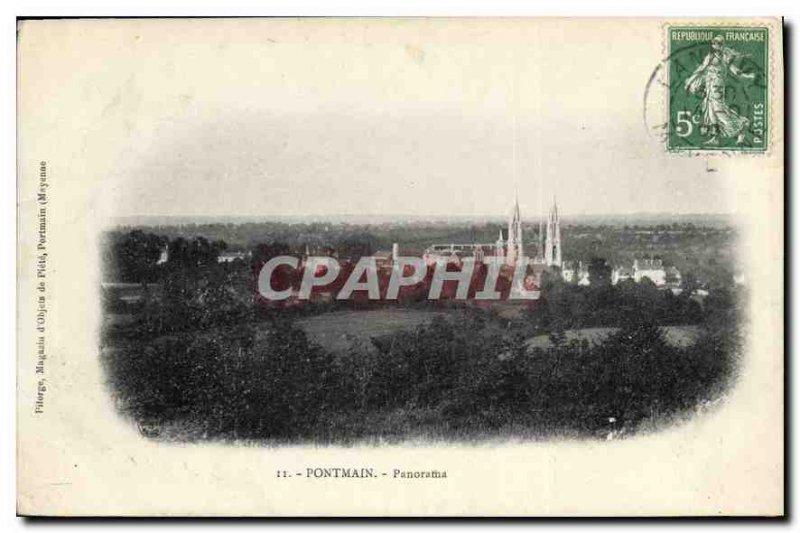 Old Postcard Panorama Pontmain