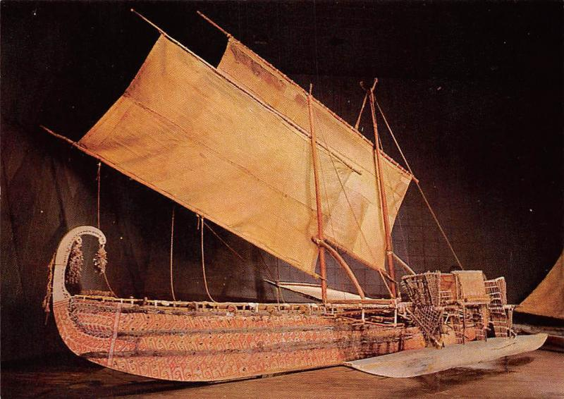 Hochsee Segelschiff mit Ausleger Luf Hermit Inseln, Para Mikronesien Museum