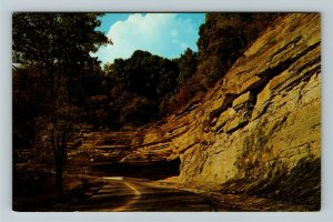 Madison IN- Indiana, Hanging Rock Hill, Indiana Highway, Chrome Postcard