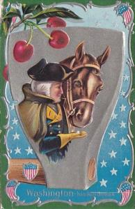 George Washington With His Horse 1916