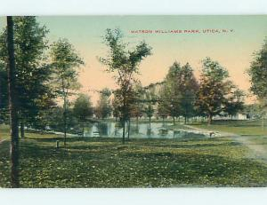 Divided-Back WATSON WILLIAMS PARK SCENE Utica New York NY r7938